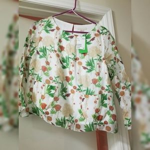 H&M blouse floral print new with tags size 10